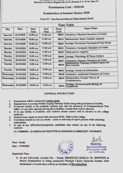 Time Table: Mumbai University Exam Second Half 2020